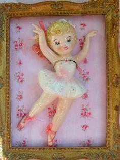 Vintage Lefton Ceramic Ballerina Wall by KittyKatDance on Etsy, $24.00
