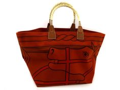 Okurasichiten   Rakuten Global Market: HERMES horse patterns tea pull tote bag 2012 □ P carved seal (A6002510) HERMES, canvas ・)