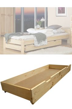 🛏 Lack of storage space in your bedroom? You can use space under the bed! Our drawers are available in 3 size variants and a few colours  ✔  #solidwood #storagedrawer #bedroom #furniture