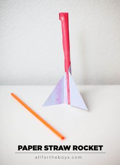 Blast off with these 8 fun rocket projects, crafts, and activities including this paper straw rocket and an actual fizzing alka-seltzer rocket!