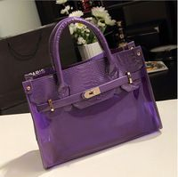 IBAG Girls Jelly Bag Candy Transparent Women Tote Purses and Handbags Dora Cosmetic Makeup Organizer Beautician Bags BG007
