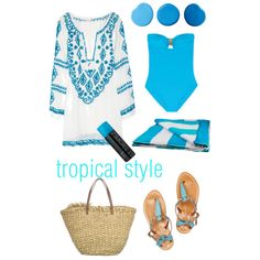 """""""Tropical Style"""" by Coastal Style Blog"""