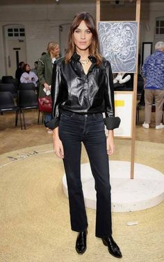 Alexa Chung attends the JW Anderson show during London Fashion Week   September 16, 2017