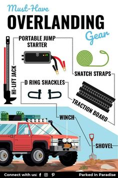 Overlanding refers to vehicle-based, off road travel with a large focus on self-reliance. When it comes to overlanding, the journey is the adventure. Must have gear and supplies for a successful overlanding adventure. The best vehicle tips and tricks for surviving the land on your own. Overnight camping and travel.