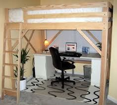 queen loft bed - Google Search