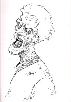 Free Zombie Printable Coloring Pages