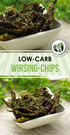 Die Wirsing-Chips sind low-carb, glutenfrei und eine gesunde Alternative zum Knabbern.