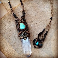 """#macrame #crystal #turquoise #handmade"" Photo taken by @macrame_wala on Instagram, pinned via the InstaPin iOS App! http://www.instapinapp.com (11/03/2013)"