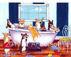 Pembroke Welsh Corgi beautiful Giclee Fine Art Print on Somerset Velvet Paper によく似た商品を Etsy で探す