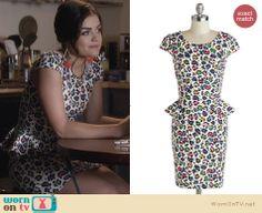 Aria's rainbow leopard print dress on Pretty Little Liars. Outfit Details: http://wornontv.net/25899