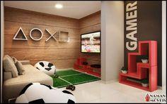 Resultado de imagem para sala de jogos video game residencial