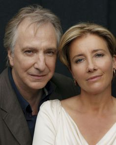 Alan Rickman & Emma Thompson- the only thing better than either one of them is them together! Emma Thompson, British Actresses, British Actors, Actors & Actresses, American Actors, Film D'animation, Film Serie, The Song Of Lunch, Pretty People