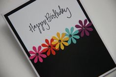 61 Ideas For Birthday Greetings Cards Handmade Diy Flower Birthday Cards, Flower Cards, Card Ideas Birthday, Easy Diy Birthday Cards, Birthday Gifts, Free Birthday, Sister Birthday, Birthday Images, Birthday Cake