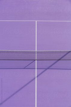 Purple Tennis Court by Luis Cerdeira