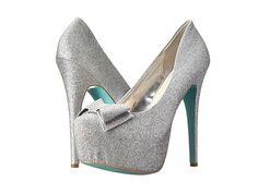 Blue by Betsey Johnson Gala High Heels, Silver Silver Glitter Pumps, Silver High Heel Shoes, Blue High Heels, Blue Pumps, Blue Glitter, Platform Pumps, High Heel Pumps, Pumps Heels, Blue Bridal Shoes