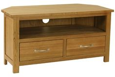 Maison Oak Corner TV Unit | Lights and Furniture