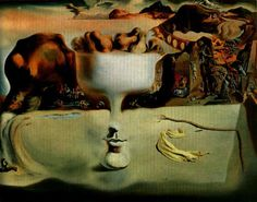 Salvador Dali - Apparition of Face and Fruit Dish on a Beach (1938)