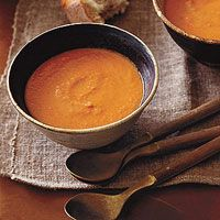 Creamy Tomato-Vodka Soup.  Might need to try this one with fire-roasted tomatoes.