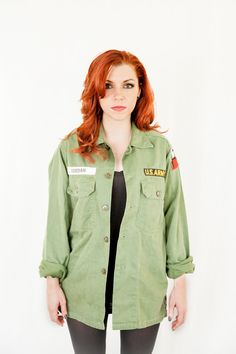 unisex forest green military jacket by ChicOrigins on Etsy, $85.00 #armyjacket #militaryjacket #forestgreen