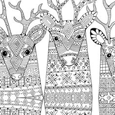 adult christmas coloring pages | Christmas Coloring Book Adults Card Pages Postcard Winter Holiday ...