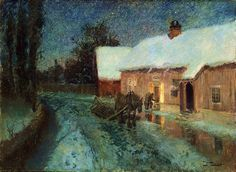 Paintings by Norwegian Painter Frits Thaulow    (+++)