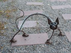 cat yard art