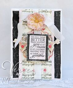 Mother's Day card by Tiffany Morgan using Verve Stamps.  #vervestamps