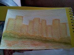 Cityscape watercolor