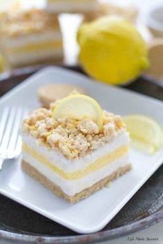 Lemon Cream Pie Ice Cream Bars are the perfect easy frozen treat with only 5 ingredients made with all your favorite flavors of this classic pie.