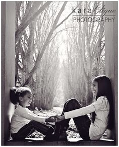 Black & White /Children Photography  -  Sister Act