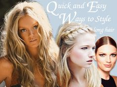 quick and easy ways to style long hair, how to style long hair, fun ways to style long hair, long hair, hair tips, hair how to, beauty how to
