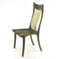 Dining Chair no.8 - Templates - Canadian Woodworks Dining chair no.8 designed in the Sam Maloof style. Featuring the Maloof joint, bent laminated back supports, and guaranteed comfort! Includes: Full scale paper templates