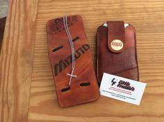 Baseball glove wallet with iPhone phone case...