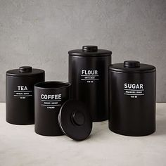 Utility Kitchen Canisters - Black #westelm
