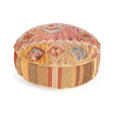 A pouf with a design sensibility drawn from global house wares and antiques. This home decor accessory will bring a sense of comfort into any contemporary living space.