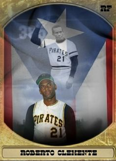 Puerto Rico History, Roberto Clemente, Celebrity Caricatures, Pittsburgh Pirates, Puerto Ricans, My Idol, Baseball Cards, Masters, Mlb