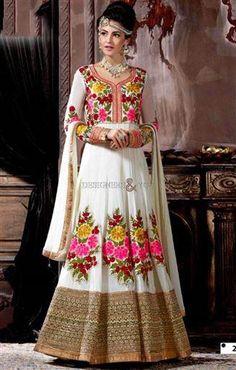 Floral Anarkali Salwar Kameez Design For Ladies http://www.designersandyou.com/dresses/anarkali-suits #Floral #Anarkali #Salwar #Kameez #Dress #AnarkaliSuits #Online #Shopping #Best #Price  #BestAnarkali #AnarkaliSuitShopping