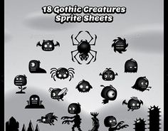 "Check out new work on my @Behance portfolio: ""18 Gothic Creatures Sprite Sheets"" http://be.net/gallery/45585695/18-Gothic-Creatures-Sprite-Sheets"