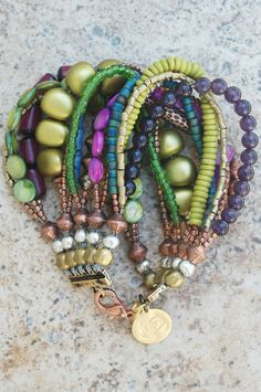 multi & mixed bracelet