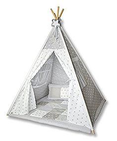Amilian® Tipi Spielzelt Zelt für Kinder T01 (Spielzelt mit der Tipidecke und Kissen): Amazon.de: Spielzeug