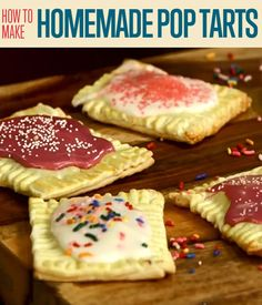 Pop tarts are just divine. It's so easy it is to make homemade pop tarts. You can easily customize it to what ever flavor you like and serve it anytime.