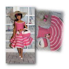 Curvy Barbie swimsuit handcrafted by TKCT retro rainbow colorful bathingsuit
