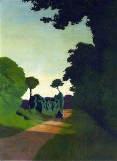 Felix Vallotton — The Cart, Painting: oil. - Art of Darkness Kunst Online, Online Art, Abstract Landscape, Landscape Paintings, Art En Ligne, Paul Gauguin, Michelangelo, Henri Matisse, Art Blog