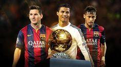 Cristiano Ronaldo, Leo Messi y Neymar Jr. finalistas al Balón de Oro 2015