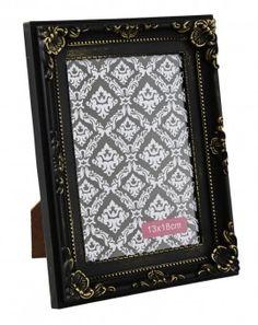 Bilderrahmen Barock, schwarz, 13 x 18 cm - Bilderrahmen im opulenten Barock-Look. Geeignet für Bilder der Größe 13 x 18 cm.Material: Kunststoff