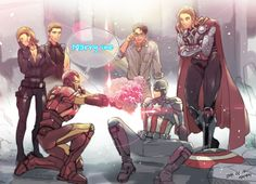 "The Avengers...Iron Man be like, "" I demand, I don't ask! Even in a marriage proposal..."" lol"