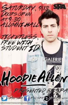 A preview of Hoodie Allen's Penn State performance
