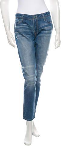 Genetic Denim Distressed Straight-Leg Jeans w/ Tags Genetics, Skinny, Legs, Denim, Stylish, Pants, Women, Fashion, Trouser Pants