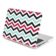 MacBook Pro Retina 13 Case, GMYLE Hard Case Print Frosted for MacBook Pro 13 inch with Retina display - Turquoise Blue and Hot Pink Chevron Pattern Rubber Coated Hard Shell Case Cover (Not fit Macbook Pro Buy Macbook, Macbook Pro 13 Case, Macbook Pro 13 Inch, Apple Mac Laptop, Hand Jewelry, Retina Display, Pink Marble, Frost, Chevron