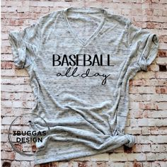 Baseball All Day shirt Baseball Mom t-shirt baseball momma